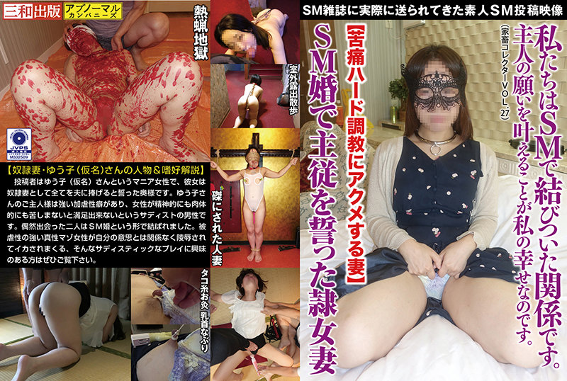 Slave Female Wife Who Sweared Master-Slave In Sm Marriage [Wife Acmeing Pain Hard Training] (Livestock Collector Vol.27)